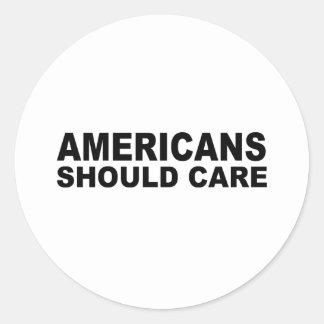 Los americanos deben cuidar etiqueta redonda