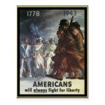 Los americanos lucharán siempre para la libertad