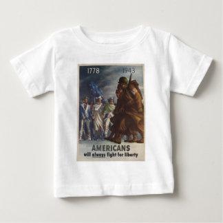 Los americanos lucharán siempre para la libertad t-shirts
