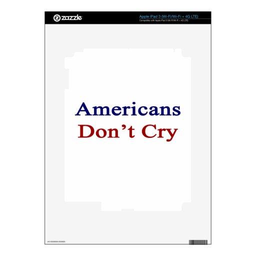 Los americanos no lloran iPad 3 skin
