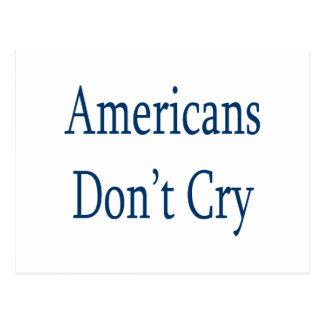 Los americanos no lloran postal