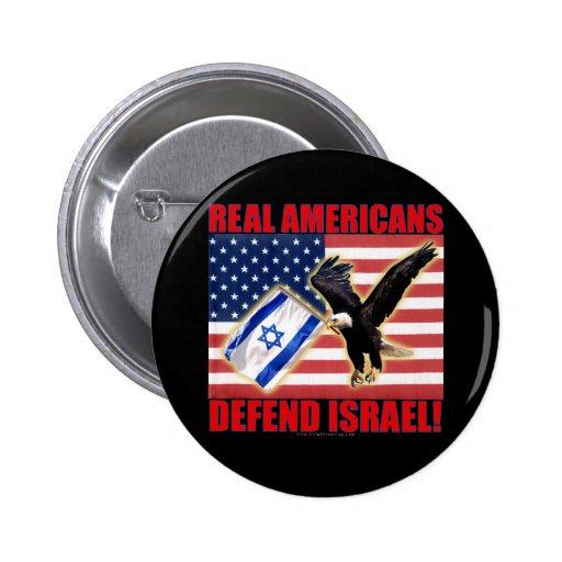 Los americanos reales defienden Israel Pins