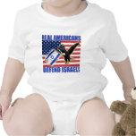 Los americanos reales defienden Israel Trajes De Bebé