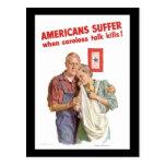 Los americanos sufren cuando las matanzas descuida tarjetas postales