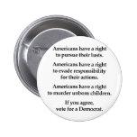 Los americanos tienen una derecha pin