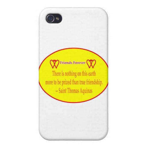 Los amigos 2 corazones amarillean para siempre San iPhone 4 Fundas