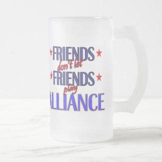 Los amigos Alliance helado asaltan Tazas De Café