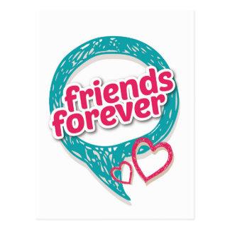 Los amigos aman para siempre los corazones <3 postales