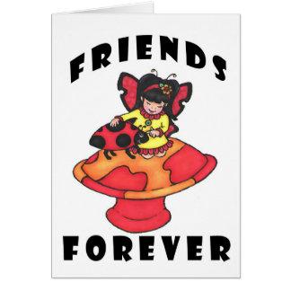 Los amigos cardan para siempre tarjeta de felicitación