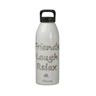 Los amigos de la colección del verano, risa, se re botellas de agua reutilizables