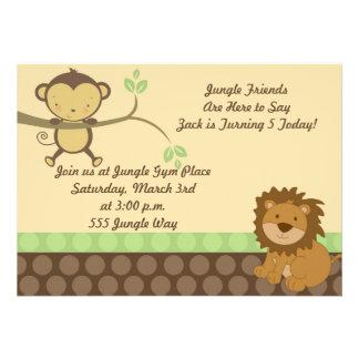 Los amigos de la selva invitan invitaciones personales