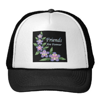 los amigos están para siempre con las flores gorras