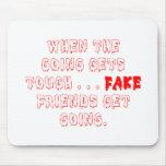 Los amigos falsos no permanecen tapetes de raton