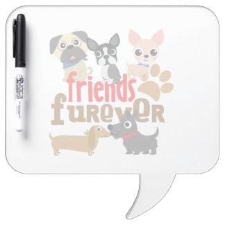 Los amigos Furever persiguen perritos Pizarra Blanca