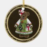 Los amigos hacen el mejor ornamento del oso de ornamento para arbol de navidad