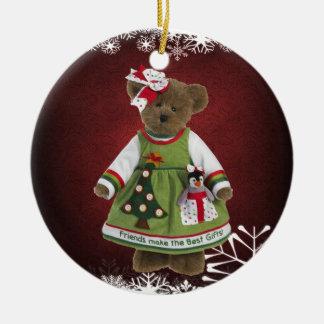 Los amigos hacen el mejor ornamento del oso de ornamento de navidad