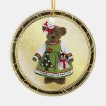 Los amigos hacen el mejor ornamento del oso de adornos de navidad