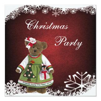 """Los amigos hacen la mejor fiesta de Navidad del Invitación 5.25"""" X 5.25"""""""