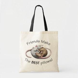 ¡Los amigos hacen las MEJORES almohadas! - bolso d Bolsa Tela Barata