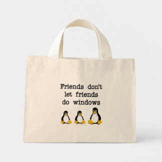Los amigos no dejan a amigos hacen ventanas bolsas