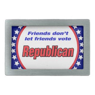 Los amigos no dejan al republicano del voto de los hebilla de cinturon rectangular