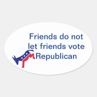 Los amigos no dejan al republicano del voto de los pegatina ovalada