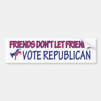 Los amigos no dejan al republicano del voto de los pegatina para auto