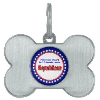 Los amigos no dejan al republicano del voto de los placa de mascota