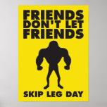 Los amigos no dejan día de la pierna del salto de posters