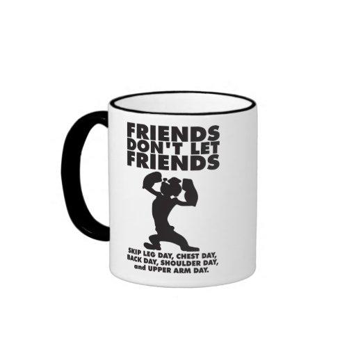 Los amigos no dejan día de la pierna del salto de tazas