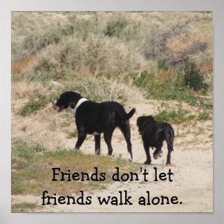 Los amigos no dejan el poster solo del paseo de lo