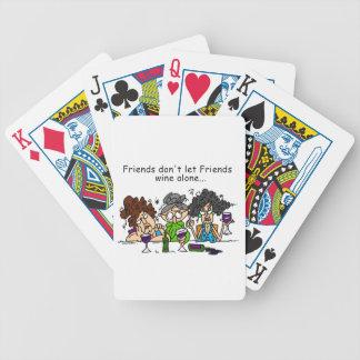 Los amigos no dejan el vino de los amigos solament baraja cartas de poker