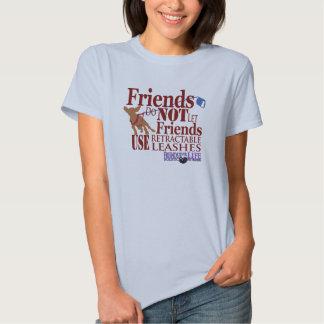 Los amigos no dejan perros dañados los amigos playeras