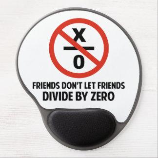 Los amigos no hacen Divide By Zero Alfombrillas Con Gel