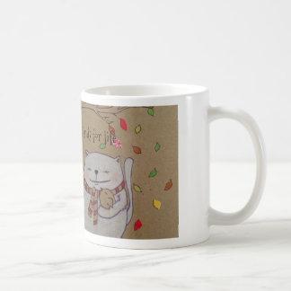 los amigos para el gato y el pájaro lindos de la taza de café