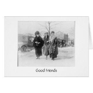 Los amigos reales son importantes tarjeta de felicitación