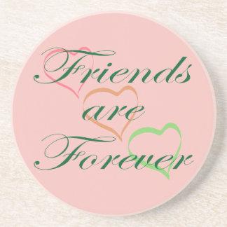 Los amigos son Forever Posavasos Personalizados