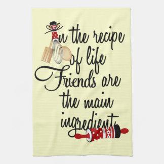 Los amigos son la toalla de cocina principal del i