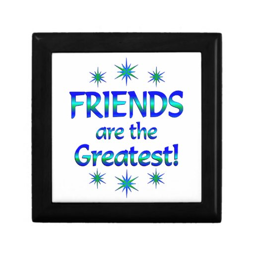 Los amigos son los más grandes caja de joyas