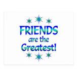 Los amigos son los más grandes postal