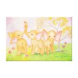 Los amigos son maravillosos--¡Los elefantes saben! Impresión De Lienzo