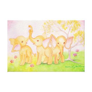 Los amigos son maravillosos--¡Los elefantes saben! Impresiones En Lienzo Estiradas