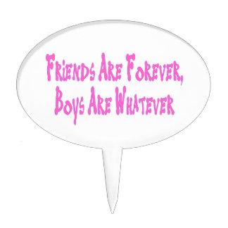 Los amigos son muchachos son para siempre lo que palillos de tarta