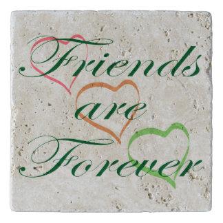 Los amigos son para siempre corazones salvamanteles