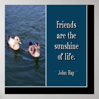 Los amigos son… Poster