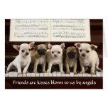 Los amigos son tarjeta de felicitación del perrito