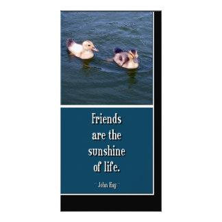 Los amigos son… Tarjeta de la foto Tarjetas Fotográficas Personalizadas