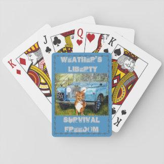 Los amigos y el lema del granjero barajas de cartas