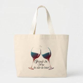 Los amigos y Wine más viejo es el mejor arte del v Bolsa