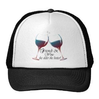 Los amigos y Wine más viejo es el mejor arte del v Gorro De Camionero